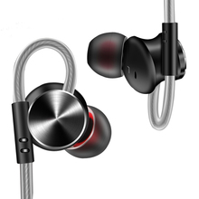 DM10 metal hifi subwoofer wired earphones sport wired headsets with microphone and magnetic adsorption цена