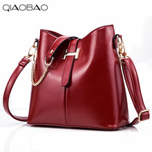 QIAOBAO 2017 Wachs Leder Handtaschen Luxus Frauen Messenger Bags Bolsa Feminina frauen Umhängetaschen Für Frauen Damen Leder Tasche