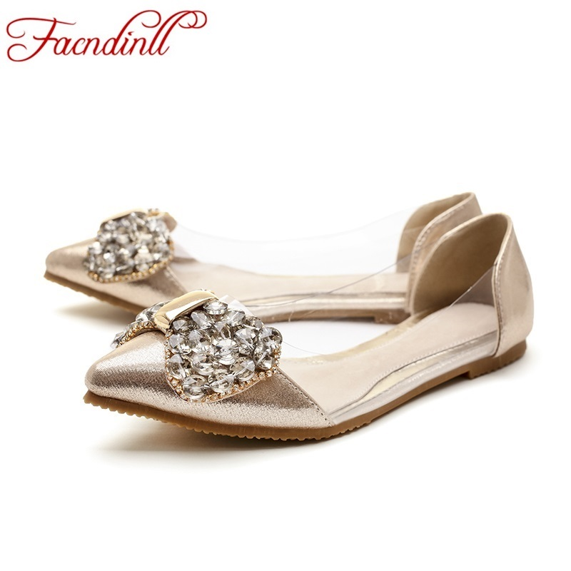 ФОТО brand new designer women casual comfort slip on patent leather shoes woman flats rhinestones bowtie casual shoes gold silevr