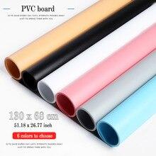 Tablero de fondo de fotografía de PVC con efecto mate colorido, 130x68cm, impermeable, a prueba de polvo para estudio fotográfico, Alfombra de grabación de escritorio