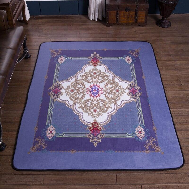 Bohême géométrique noble bleu chambre tapis de sol tapis pour salon chambre tapis rectangulaire antidérapant tapis de sol # sw