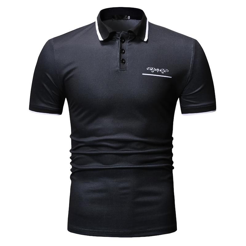 100% QualitäT 2019 Neue Sommer Druck Polos Männer Solide Patchwork Kurzarm Polo Shirt Männer Mode Baumwolle Polos Aromatischer Charakter Und Angenehmer Geschmack