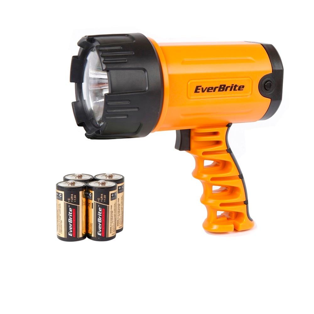 EVERBRITE-FARBEN 300 Lumen LED Scheinwerfer Leistungsstarke Led Taschenlampe Zoombare Wasserdichte Tragbare Scheinwerfer mit 4C batterie