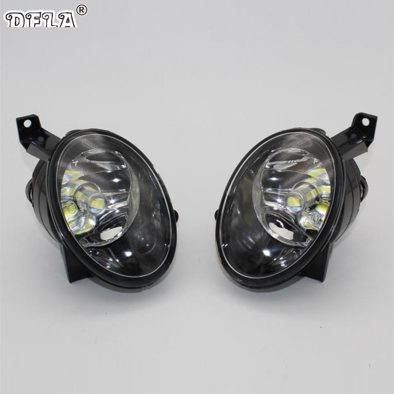 Car LED Light For VolksWagen VW Golf 6 MK6 Variant Plus Cabriolet 2009-2013 Car-Styling Front Bumper LED Fog Light Fog Lamp 2011 2013 vw golf6 daytime light free ship led vw golf6 fog light 2ps set vw golf 6