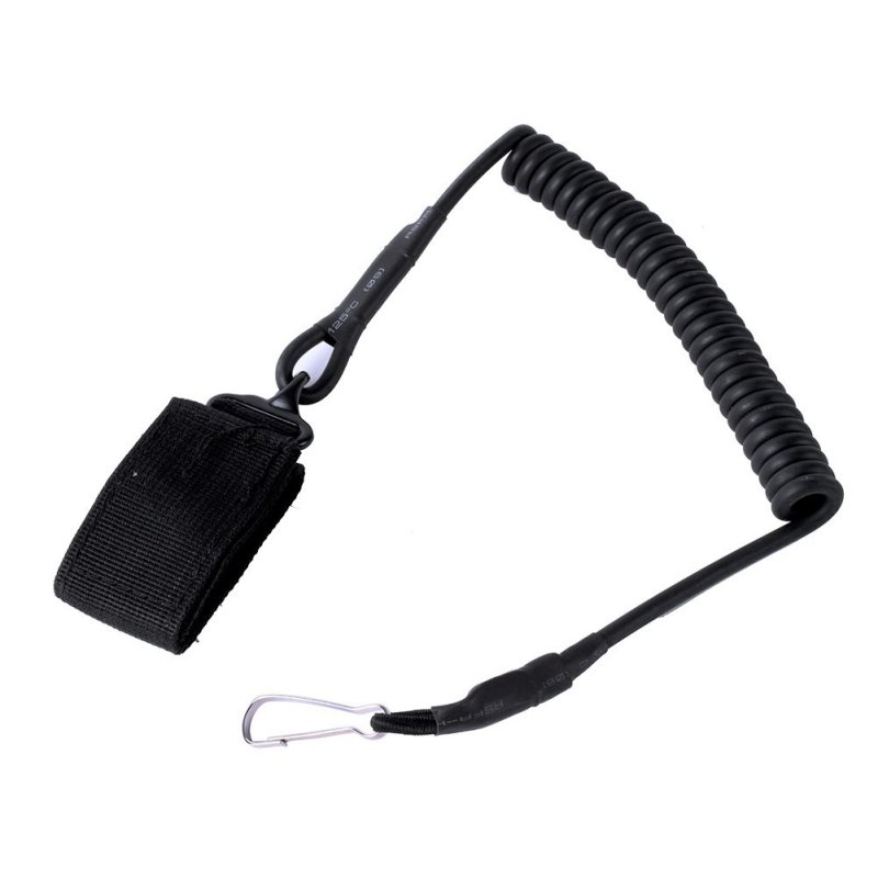 Outdoor Tactical Single Point Pistol Spring Lanyard Sling Quick Release Shooting Caccia Strap Army Combat Gear