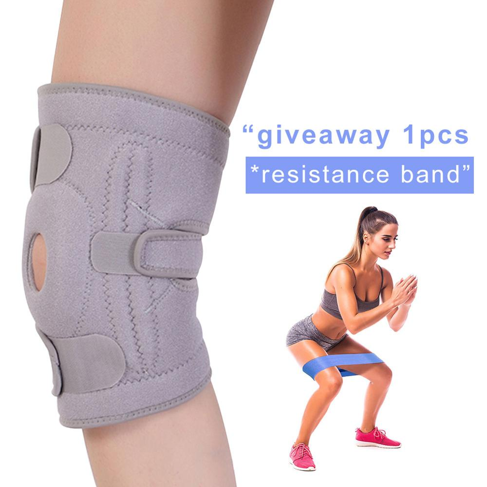 Professional Sports Safety Knee Support Brace Stabilizer With Inner Flexible Hinge Pad Guard Breathable Knee Protector Strap