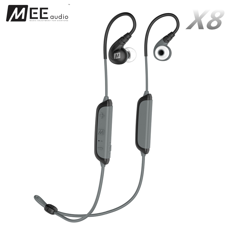 Original MEE X8 Wireless Bluetooth Sports Headphones Secure-Fit Dynamic Bass Stereo In-Ear Headset Earphones With Mic For Iphone 2017 scomas i7 mini bluetooth earbud wireless invisible headphones headset with mic stereo bluetooth earphone for iphone android