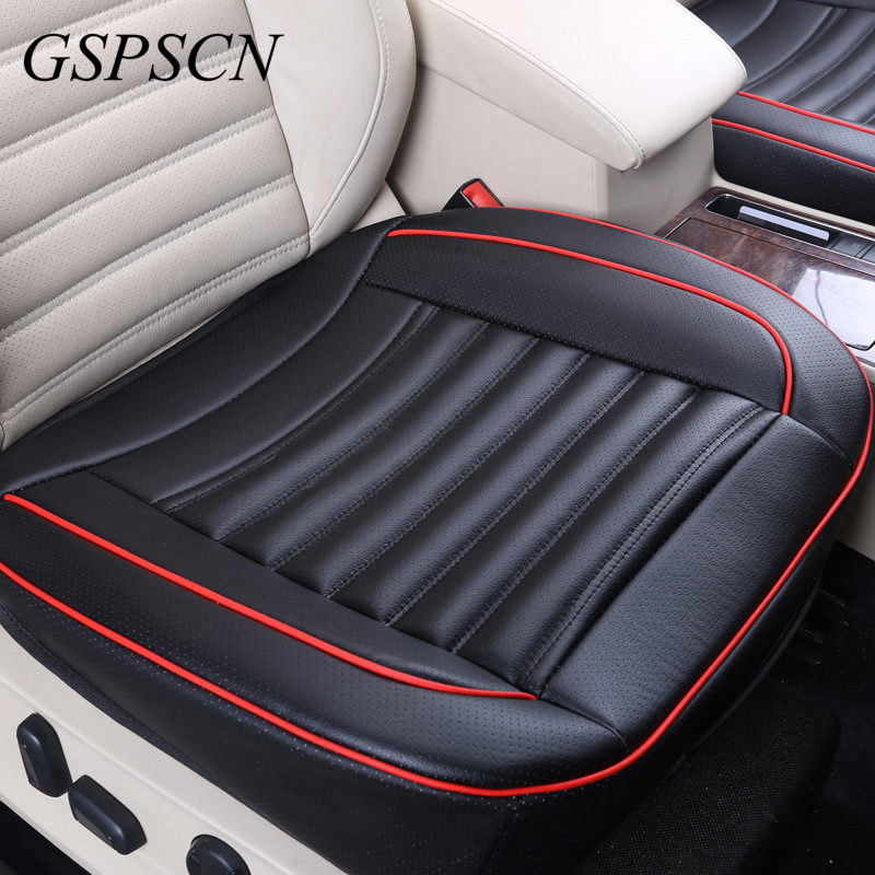Universal Car Cowhide Front Cushions Side Around Seat Protector Leather Car Sear Cover With Healthy Buckwheat Shell Inside