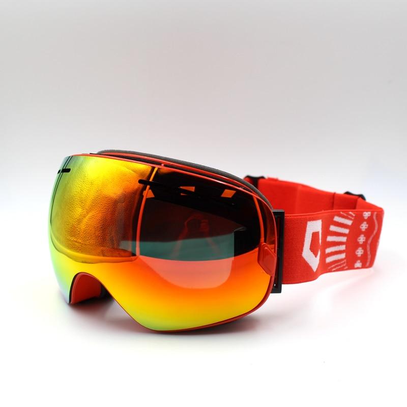 Brand Professional Anti-fog Skyddsglasögon UV400 Skidglasögon Dubbelglasögon Skidor Snowboard Snowglasögon Skidögonögon
