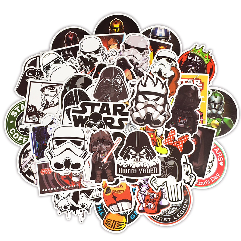 50pcs No Repeat Star Wars Vintage Stickers Bulk Adult 2019 New Star Wars  Stormtrooper Darth Vader Stickers Journal Laptop Trunk -in Stickers from  Toys ... 1ff8abc0988