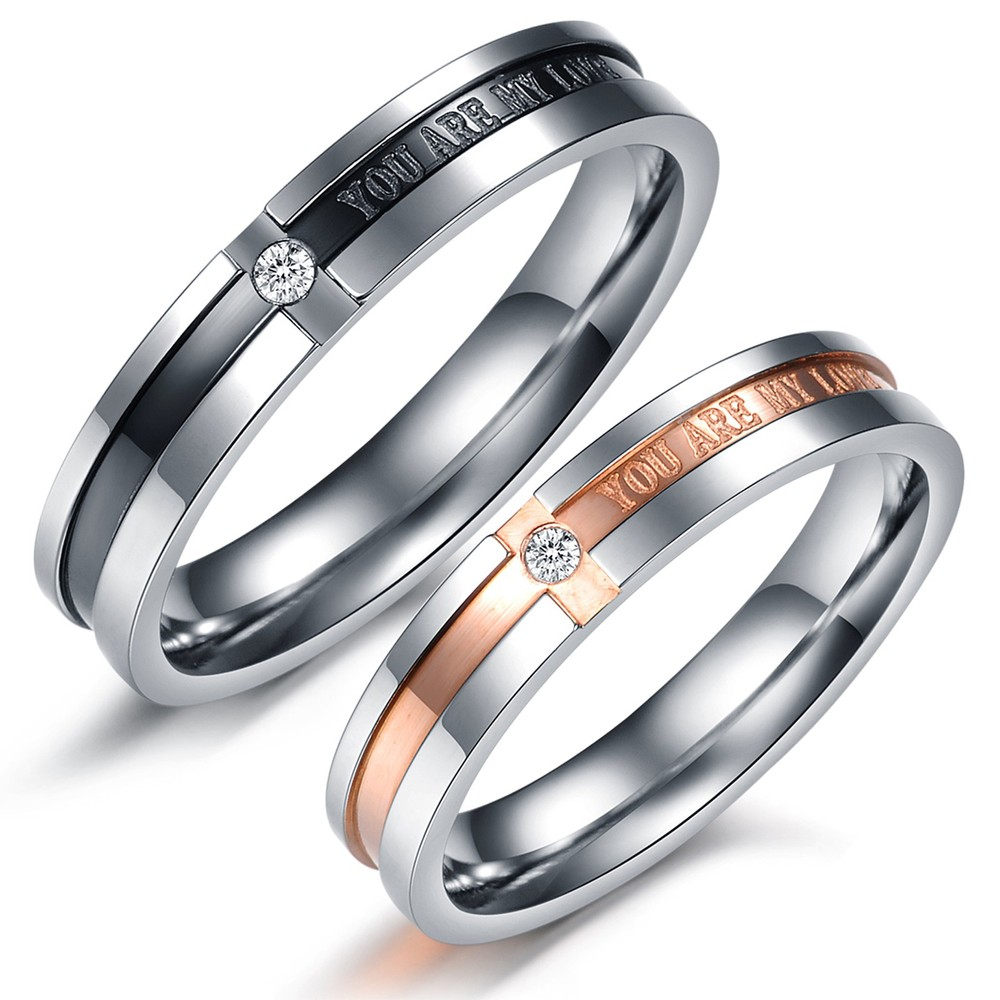 Wedding Band Sets For Men And Women Sterling Silver Anium Rings Set Available Sizes