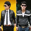 2016 autumn and winter men 's jackets personality motorcycle jacket Slim youth fashion PU double - sided wear leather hot sale