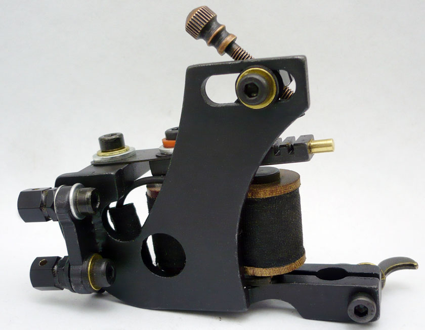 5Pcs/lot Professional Handmade Tattoo Machine 10 Wrap Coils Iron Cast Frame Custom Tattoo Gun For Liner Shader HTM-6282