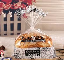 Bolsa de plástico transparente para galletas, embalaje para galletas, tostar, pan, tentempié, lote de 100 unidades, envío gratis