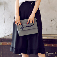 Trend New Product Fashion Summer New Pattern Korean Easy Leisure Time Wide Leg Calf Length Pants
