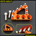 THE NEWEST BILLET KTM REAR BRAKE PEDAL STEP TIPS 125-530 690 950 990 SX EXC XCF ADVENTURE DUKE ORANGE COLOR