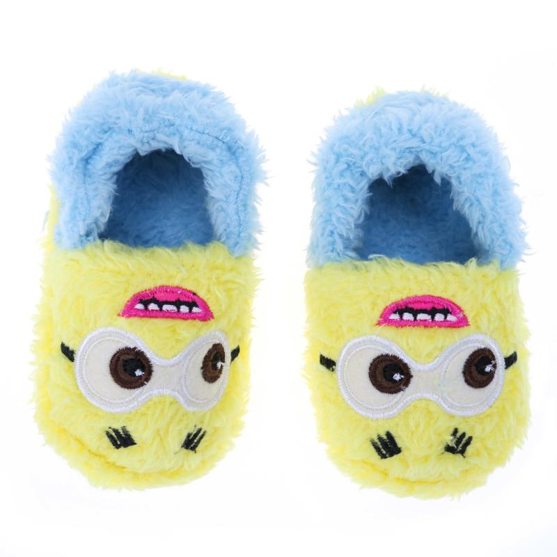 Winter Warm Baby Shoes Infant Toddler Coral Velvet Soft Sole Prewalkers Cute Cartoon Girls Boys Anti-slip First Walkers Shoes