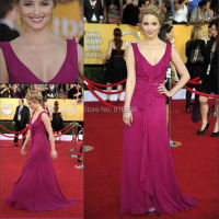 Elegant Evening Dress Hot Pink Long A Line Chiffon Prom Dresses Custom Made Red Carpet Celebrity Dresses Gowns
