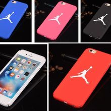 size 40 10c61 4eeee Case For iPhone 6 S Jordan Case For iPhone 7 8 Plus 5s SE 5 Matte Hard  Plastic For Capinha Para O iPhone 7 Coque Back Cover