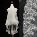 Bridal Veils New Design Fine Lace Veils One Layer White Wedding Veil Short Bridal Veils Popular Wedding Accessories