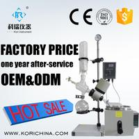 1L High Borosilicate GG3.3 Lab Glass Rotary Evaporator with Rotary Flask with heater for Distillation /Rotary Evaporator price
