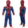 2017 fashion The Avengers Clothes New Children Warrior Costumes Muscle Spider-man Cotton Halloween Masquerade Cosplay Disfraces