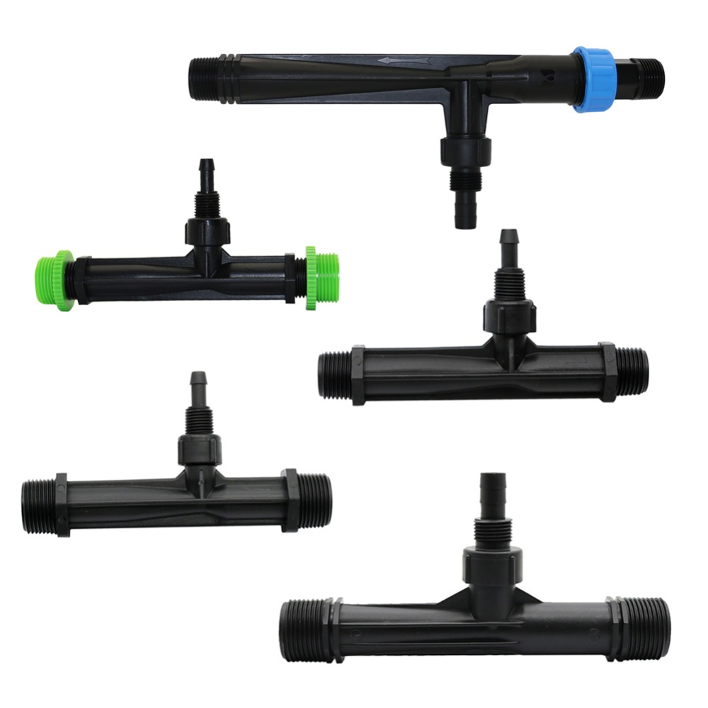 "Irrigation Venturi tube 1/2"", 3/4"", 1"" male thread Agriculture Venturi Fertilizer Injector Automatic Fertilization 1 Pcs"