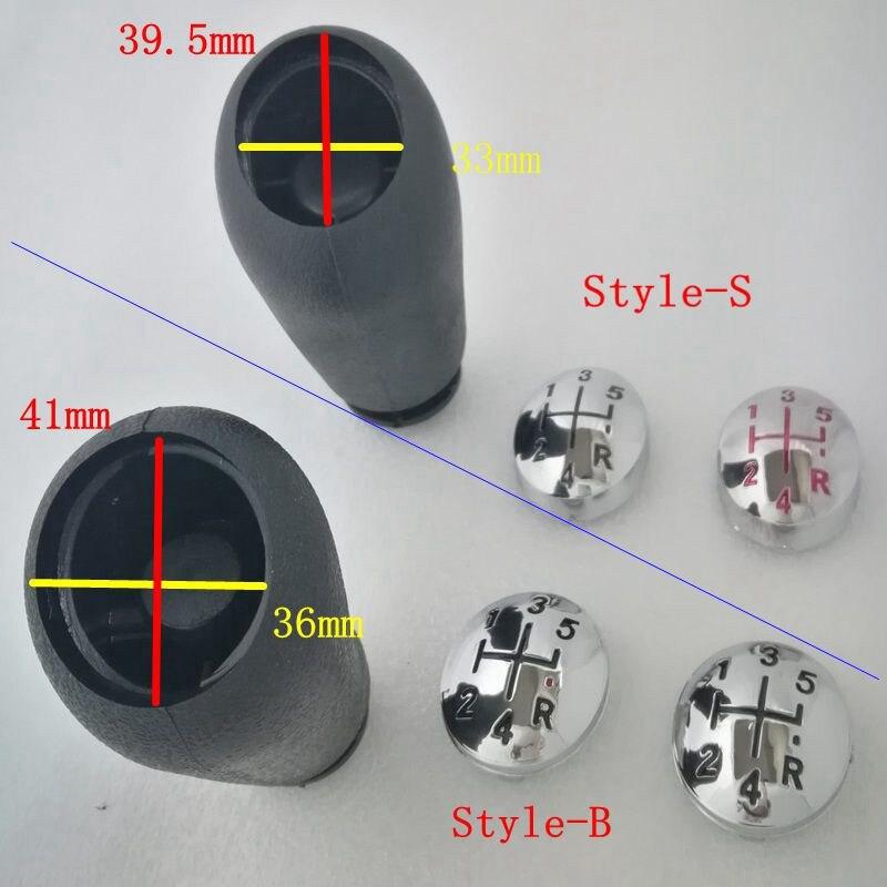 цена на 5 Speed Gear Shift Knob Cap For Renault Clio Megane Scenic Twingo Chrome Handball Head Cap Cover