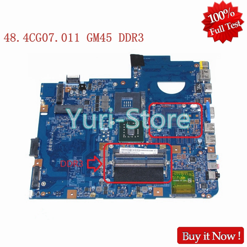 NOKOTION MBP5601009 MB.P5601.009 For Acer aspire 5738 Laptop Motherboard JV50-MV M92 MB 48.4CG07.011 GM45 DDR3 Free cpu mbp5601009 mb p5601 009 for acer aspire 5738 laptop motherboard jv50 mv m92 mb 48 4cg07 011 gm45 ddr2 free cpu