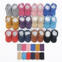 Yeni El Yapımı Hakiki Deri bebek Saçak çizmeler Ilk Yürüyüşe dantel-up bebek moccasins kız çocuk Ayakkabı 12 renkler ücretsiz nakliye