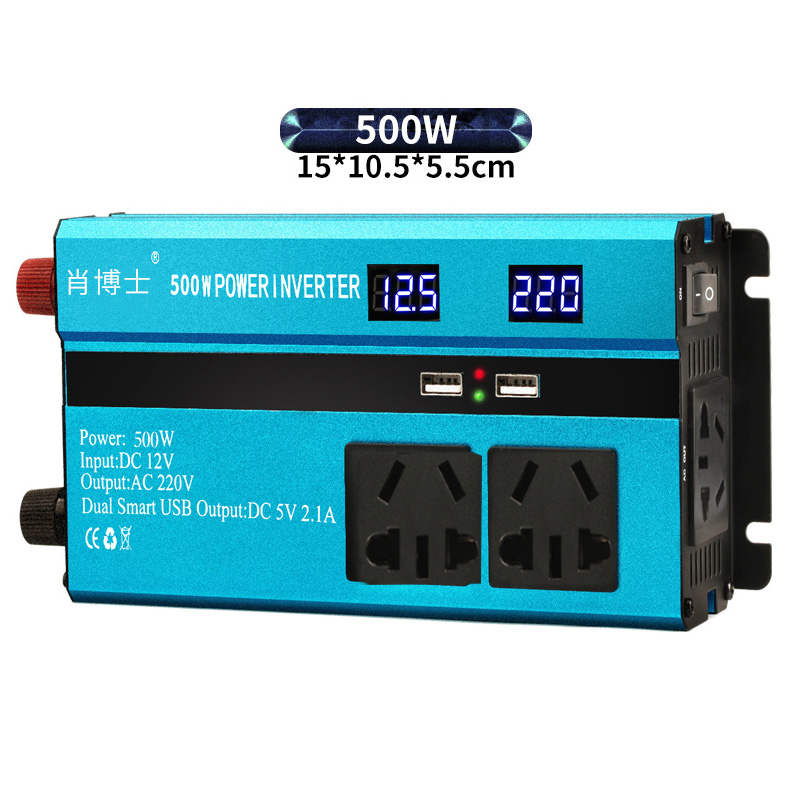 500W DC12V/24V/48V/60V To AC220V Modified Sine Wave Power Inverter LED Display Charger Converter Adapter Car Vehicle / Home Use