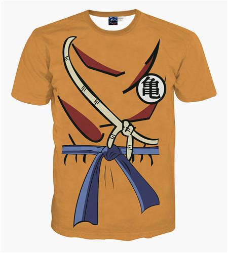 Naruto Cute Cartoon Short Sleeve 3D T-Shirt Men