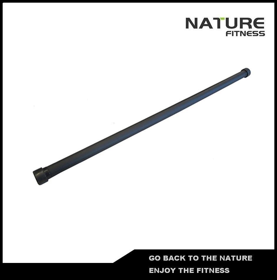 10kg Black Gym Aerobic Bar / Weighted Body Bar For Strength Training