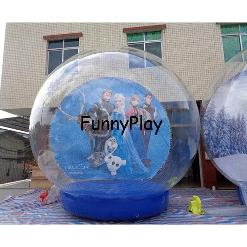 gigante globo de nieve bola de nieve inflable de la navidad tamao humano inflable
