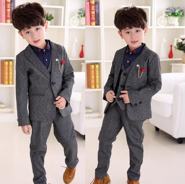 37c419d12fb2 Children Suit Baby Boys Suits Kids Blazer Boys Formal Suit For ...