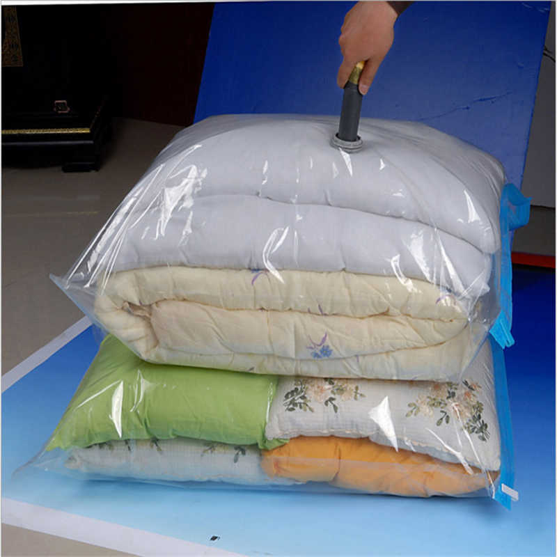 Vacuum Bag Storage Home Organizer Transparent Border Foldable Clothes Organizer Seal Compressed travel Saving Space Bags Package