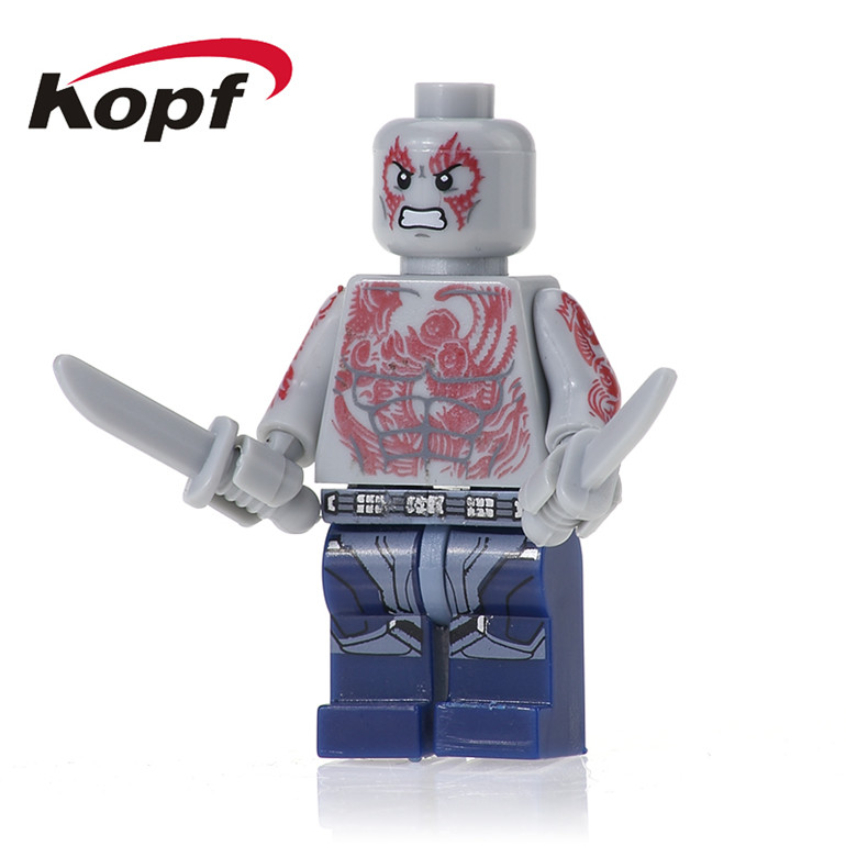 50Pcs PG159 Building Blocks Drax the Destroyer Rocket Raccoon Guardians of the Galaxy Super Heroes Bricks DIY Toys For Kids Gift