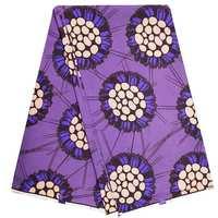African wax print fabric Ankara 40*40 yarn soft purple wax printed cotton African fabric wholesale 2019 Nigerian Ankara fabrics