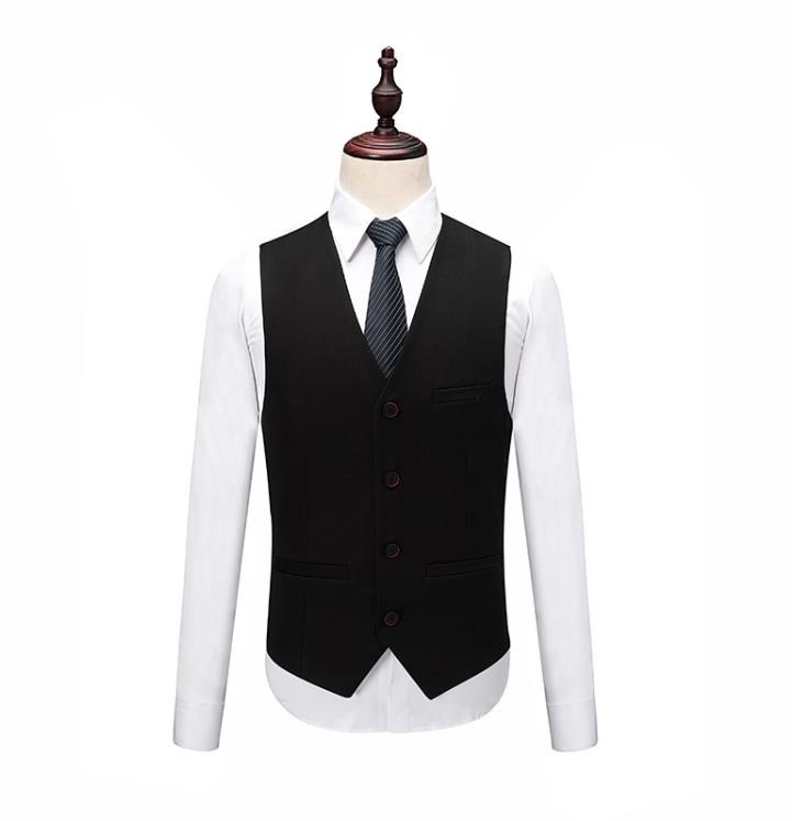 2019 Mens Black Classic Smoking Suits Fashion Party Mens Slim Skinny Suits Business Men Grooming Custom Tuxedos 3 Pieces Suits 2