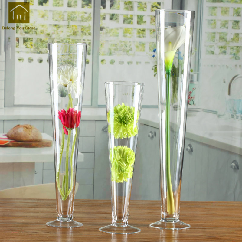 Tall Glass Vase Nordic Wedding Transparent Tall Vase Glass Containers Creative Flower Vase Decoration For Wedding QAB010 & Tall Glass Vase Nordic Wedding Transparent Tall Vase Glass ...