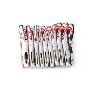 Image 3 - O Envio gratuito de Cabeça Do Clube de Golfe Ferro Headcovers 9 pçs/set Impressão Duplex Clubes de Golfe tampa da Cabeça
