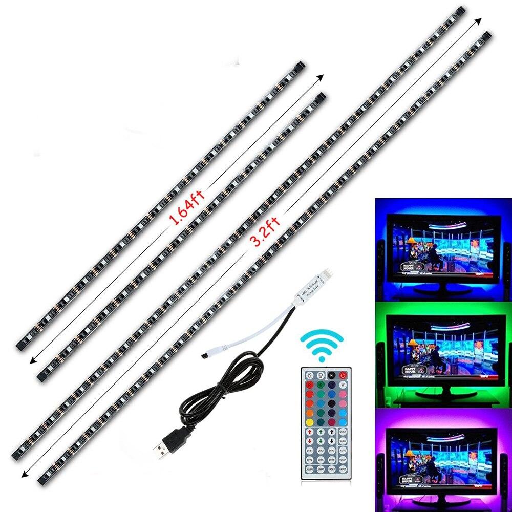 USB Führte Streifenlicht 5 V RGB Flexible 5050 SMD stachel band klebeband HDTV Desktop TV Hintergrund Bande streifen beleuchtung kits
