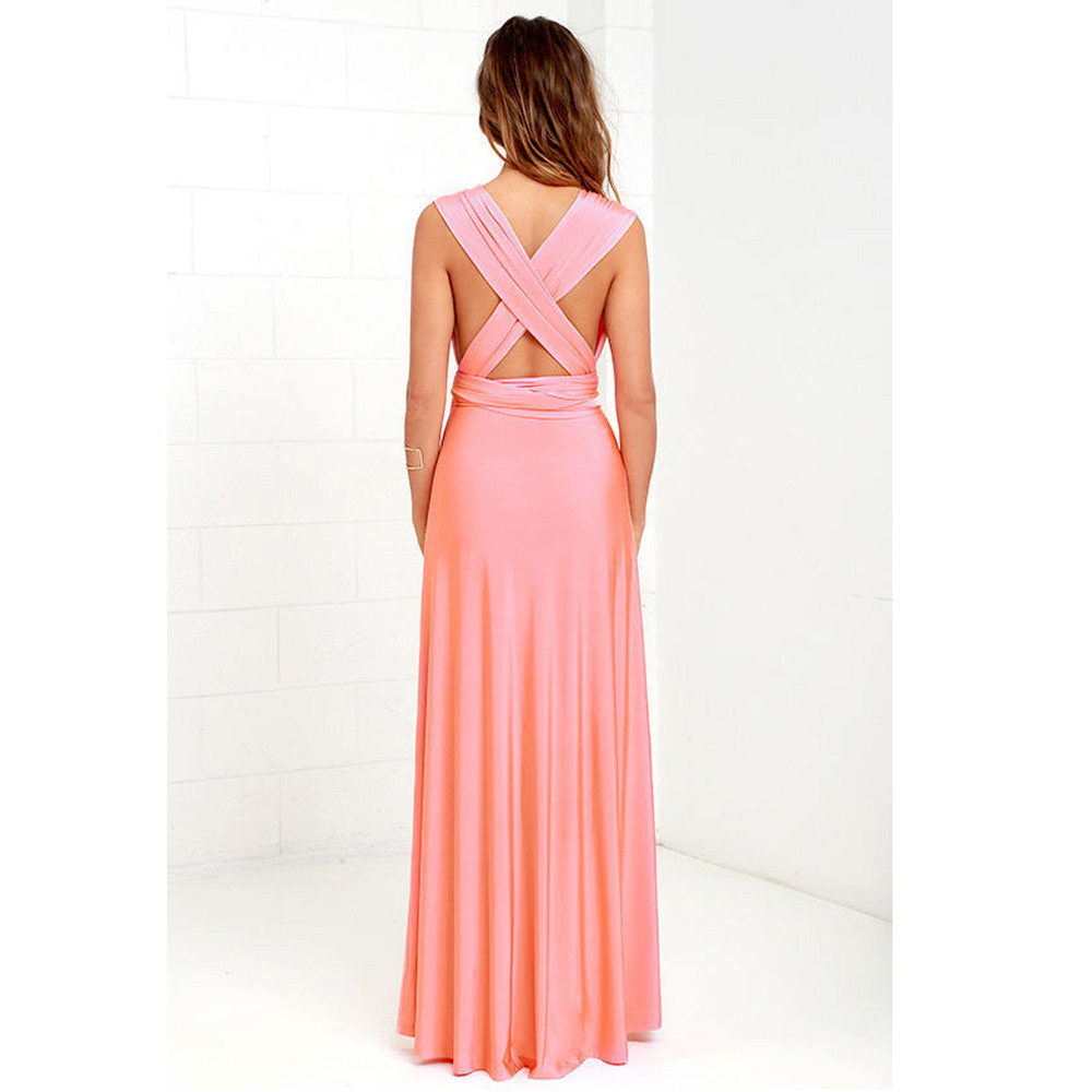 Maxi Dress Women Convertible Multi Way Wrap Bridesmaid Long Dress ...