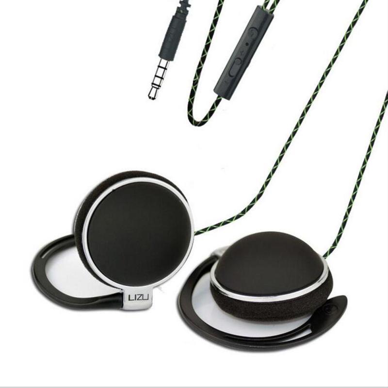 Earhook earphone Wired earphone Stereo HiFi Earphone In-Ear Headset Sport Running Earbuds with Microphone For Mobile phone
