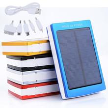 Solar Powered 30000 mAh Dual USB Power Bank Battery Charger For powerbank Phone Travel Use