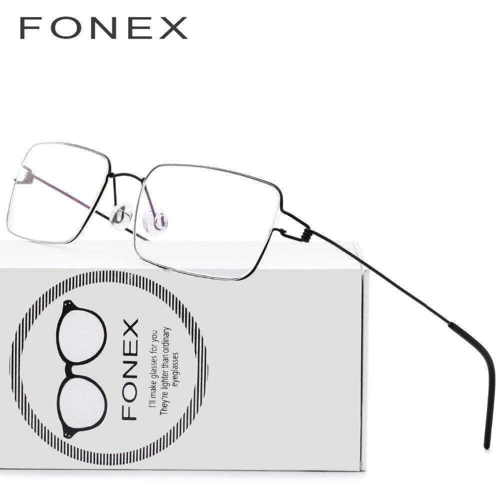 Titan Brille Rahmen Männer Brillen Koreanische Dänemark Frauen Marke Designer Myopie Optische Rahmen Schraubenlose Brillen
