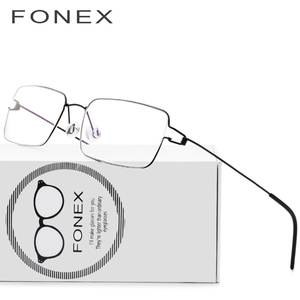 a77b3cef48 FONEX Glasses Frame Men Eyeglasses Women Myopia Optical