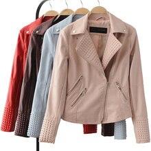 Moderní dámská kožená bunda na zip