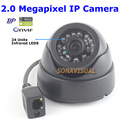 HOT 2.0 Megapixel Dome IP Camera Full HD 1920*1080 P2P/ONVIF H.264 Indoor Com IR-CUT Night Vision 1080 P IR Home Security câmera