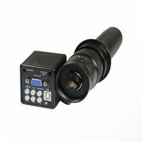 2.0MP HD Digital Industry Microscope Camera Magnifier VGA USB Video Output Free Zoom C mount Lens 130X 180X 300X